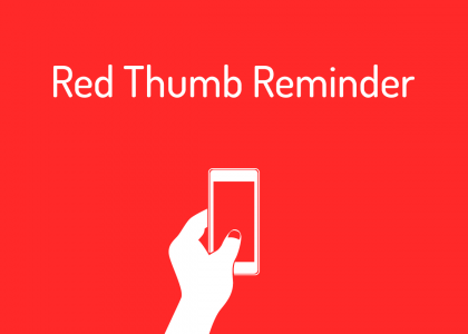 Red Thumb Reminder